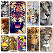 Fashion Tiger Leopard Case For iPhone 8 7 6 6S 8Plus 5 5S SE 7Plus Soft Silicone Cover Fundas Celular(China)