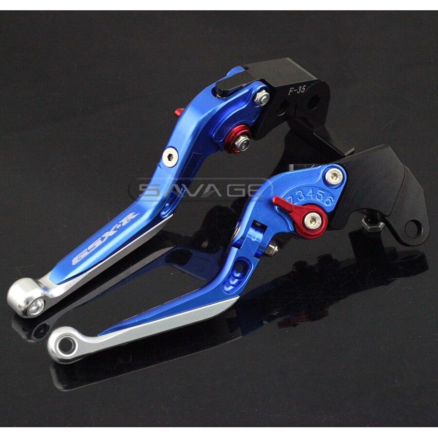 For SUZUKI GSX-R GSXR 600/750 GSXR600 GSXR750 2004-2005 Motorcycle Adjustable Folding Extendable Brake Clutch Lever Blue<br>