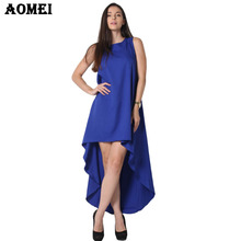 S M 3XL 5XL Women Summer Bohemian White Irregular Beach Dress Loose Flare Tunic Female Sleeveless Beachwear Boho Gowns Dresses(China)