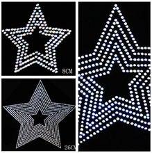 diy hotfix Applique round glass crystal rhinestone clothing T-shirt  neckline prethoracic decoration glisten star 8de17e28a89d