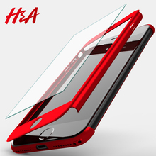 Buy H&A Luxury 360 Degree Full Body Protection Shell Cover Cases iPhone 8 7 6 6s Plus Phone Case Capa Tempered glass for $2.69 in AliExpress store