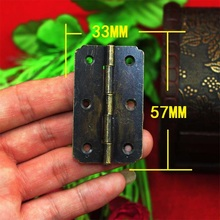 Hinges New Arrival Freeshipping 2014 Sale Limited Freeshipping 57 * 33mm Antique Wooden Gift Box Hinge 180 Degrees Flat(China)