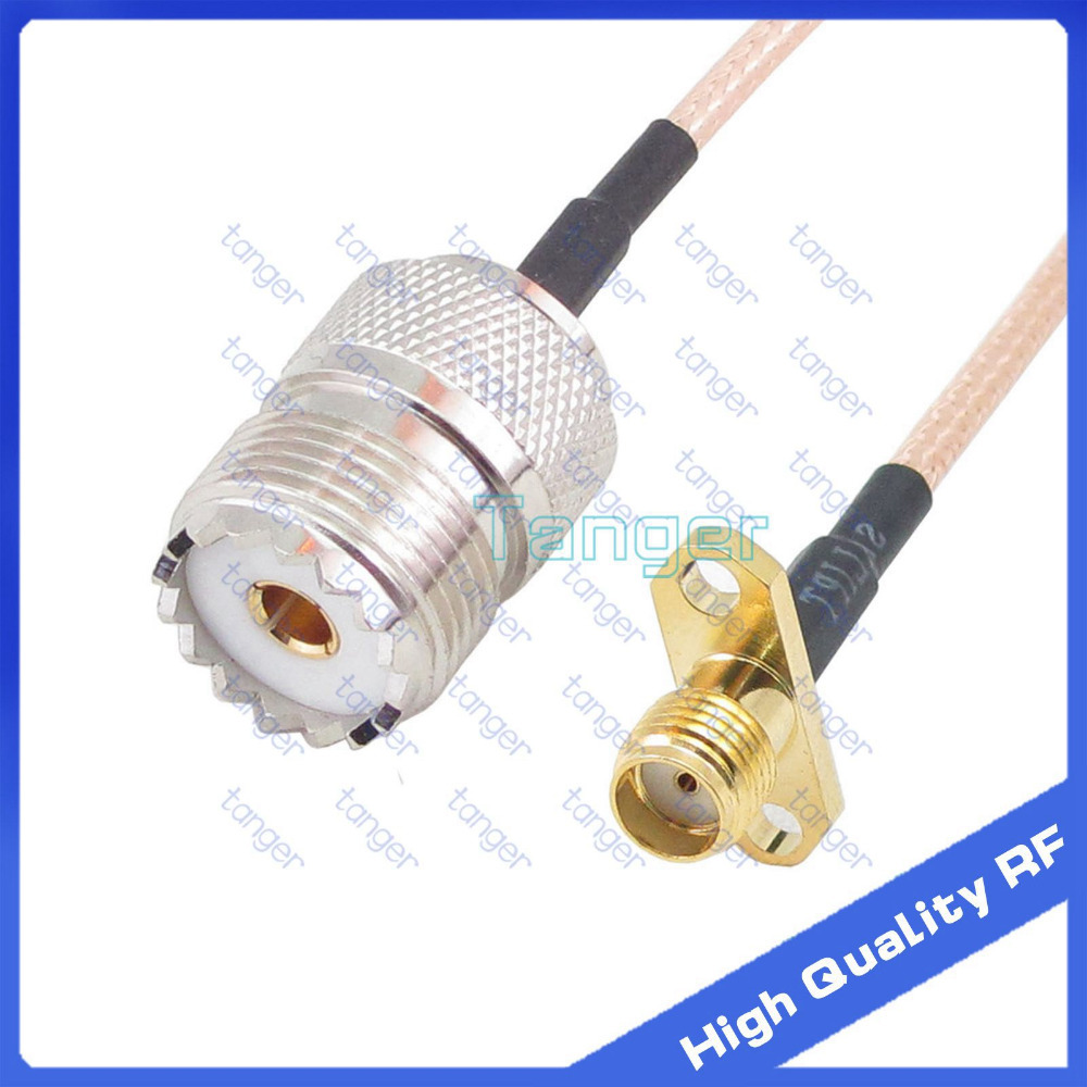 UHF female SO239 to SMA female 2 hole panel connector jack SO-239 with 20cm 8 RG316 RF Coax Pigtail High Quality cable tanger<br><br>Aliexpress
