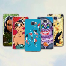 Little Mermaid Ariel Tinkerbell princess design hard transparent Case for Samsung Galaxy A7 2017 A8 A9 A5 A7 A3 2016