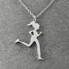 Runner Jewelry , Runner Necklace , jogging girl , Running Girl pendant , Jogger Necklace , Sports Necklace , Christmas Gift(China)