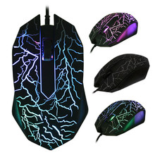Original BM007 USB Wired Ergonomic Optical Gaming Mouse Game Mice 1600DPI LED Backlit for Laptop PC