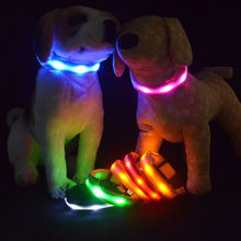 LED Dog Safety Head Collar Flashing Light Glow In The Dark Luminous Fluorescent Adjustable Pet Nylon Novelty Night Lamp