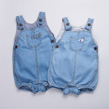 Summer New Arrival Cowboy Baby Boy&girl Clothing Fashion Design Lovely Romper Comfortable Bebes Infant Denim Suspenders Trousers