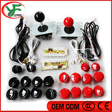 DIY Arcade game parts PC of Zero Delay Arcade DIY Kit Mame USB Encoder +Sanwa type Joystick + Sanwa Push Buttons+Wire harness(China)