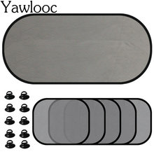 Yawlooc 5Pc/Set Black Auto Sun Visor Car Sun Shade Car Window Suction Cup Car Curtain Auto Sun Shade Car Styling Covers Sunshade(China)