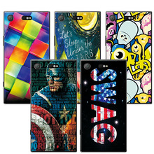 Buy Sony XZ1 Compact 4.6 inch Lovely Art Painted Colorful Capa Sony Xperia XZ1 Compact Case Cover+Free Gift Pen for $1.35 in AliExpress store