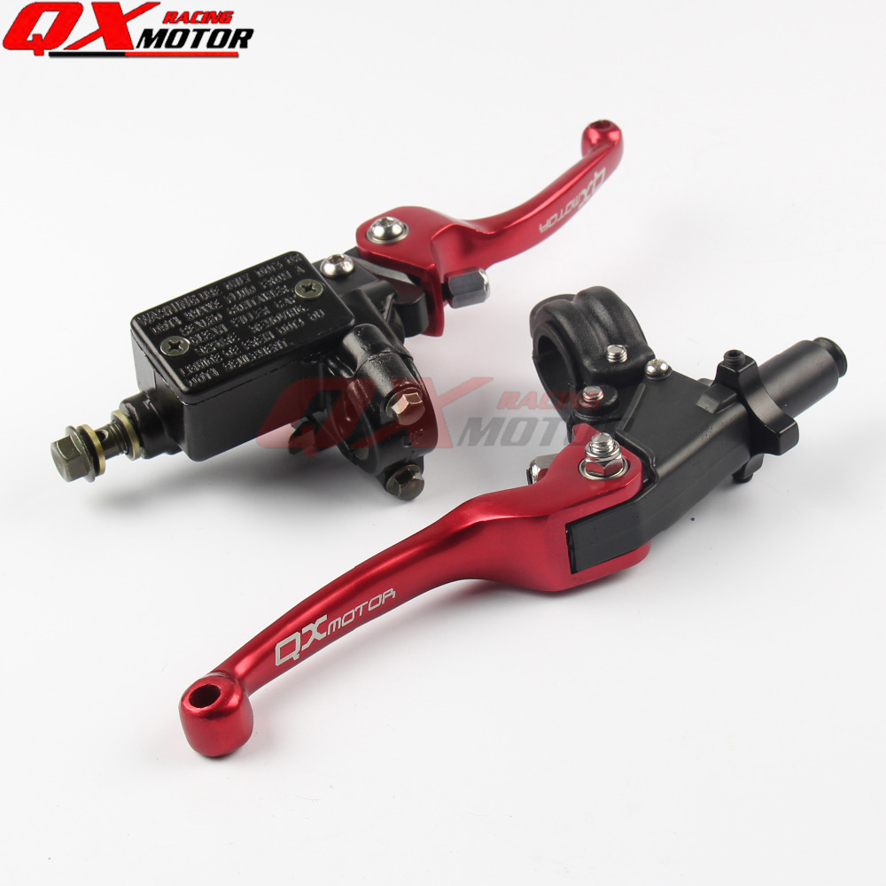 NEW CNC QXmotor folding brake lever clutch Lever with front pump For Most Motorcycle Dirt Pit Bike Motorcross CRF KLX YZF RMZ <br>