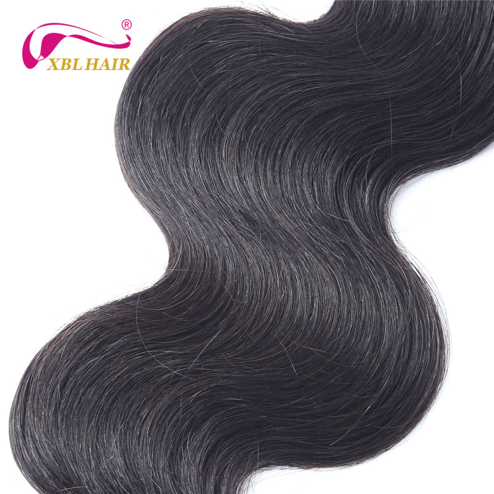 XBL HAIR Unprocessed Brazilian Virgin Hair Body Wave Human Hair Bundles Weaves 1 piece Natural Color 8-30″ Free Shipping