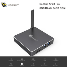 Beelink AP34 Pro Windows 10 мини-ПК Intel Apollo Lake N3450 6 ГБ, 64 ГБ и 2,4G 5,8G Wi-Fi 1000 Мбит телеприставки USB3.0 Media Player(China)