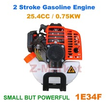 1E34F 2 Stroke Petrol Engine 25CC Mounted In Brush Cutter.Grass Trimmer.Lawn Mower.Tiller.Water Pump.etc Gasoline Garden Tools