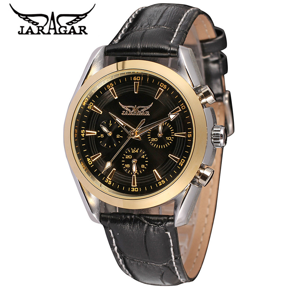 2017 JARAGAR Fashion Horloges Mannen Deluxe AUTO Mechanical 6 Hand Mens Multi-function Watch Wristwatch Free Shipping<br><br>Aliexpress