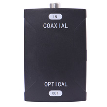 COAX Coaxial to TOSlink Optical Digital Audio Converter 24bit/192K HD sampling Coaxial audio signals to Optical audio signals