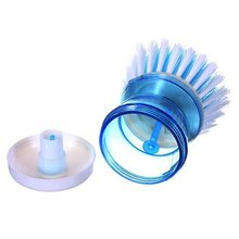 1 of Kitchen Wok Pot Detergent Self-Dispensing Pan Dish Bowl Palm Wash Brush Cleaner(color random)