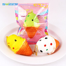 New Original Kawaii Candy Ice Cream Squishy Slow Rising Soft Squeeze Phone Straps Fun Kid Toy Gift Cute Bread Cake Wholesale