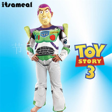 Toy Story buzz lightyear costume halloween costume for party cosplay costume carnival dress For Kids With Wig(China)