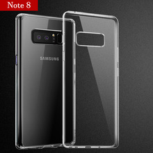 Soft TPU back cover For Samsung Galaxy Note8 Thin silicone crystal clear phone Case for Samsung Note 8 Free shipping Discount(China)