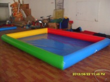 3M*5M High strength PVC play Sand pool Children Inflatable Swimming pool with Electric Air pump