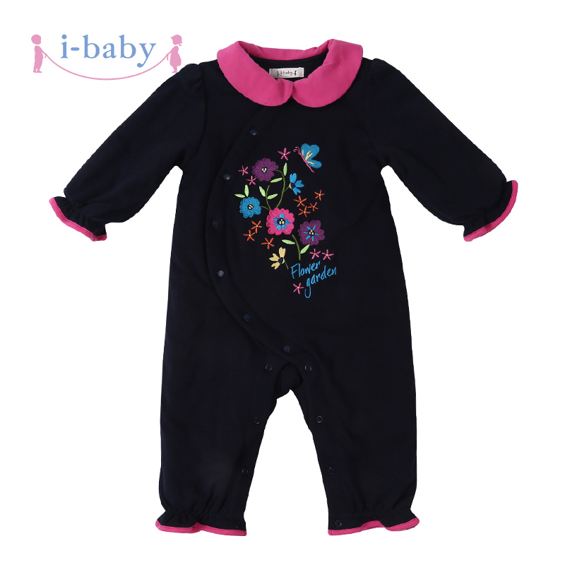 i-baby Newborn Fall Winter Baby Rompers 100% Cotton Long Sleeve Jumpsuits With Liner Infant Clothing Cute Boys Girls<br>