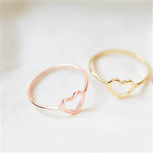 Woojila Cute little hearts ring, heart-shaped love small rings Ms popular party rings