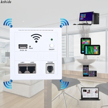 Wireless AP Router 150 Mbps Indoor Wall Embedded WiFi Router repeater 3G 5V 2A USB Charger socket panel with Switch LAN/RJ11/USB