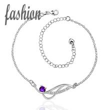 silver plated Anklet,New Design Delicate Handmade Cheap Anklets for gift barefoot sandals jewelry SMTA036-C