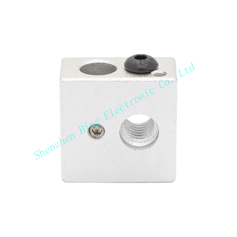 Makerbot MK7 MK8 Aluminium Heater Block For Print Head Hot End Heating Block 20*20*10 20x20x10 mm For 3D Printer<br><br>Aliexpress