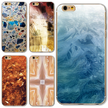 5/5S/SE Soft TPU Cover For Apple iPhone 5 5S SE Cases Phone Shell Hot Popur Blue Marble Rock Stone Texture Customs Style(China)