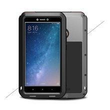LOVE MEI Powerful Metal Defender Phone Case for Xiaomi Mi Max 2 Case Back Cover Shockproof Drop-proof Dust-proof for Mi Max2 Bag(China)