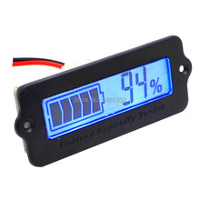 WS16 12V-48V Lead-acid Lithium Blue LCD Voltmeter Meter Battery Capacity Tester Indicator Monitor Analyzer 12V 24v 36v 48v Car(China)
