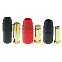 Amass AS150 Gold Plated Banana Plug 7mm Male Female for High Voltage Battery Black Red(China)