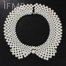 Fashion Noble White & Black Imitation Pearl Brand Designer Bib Collar Choker Necklace Jewelry For Women For Wedding Statement