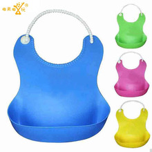 Hot sale Updated New Baby Silicone Bib Stereo Disposable Bib Kids Bibs Children Pick Rice Pocket Cute Boy And Girls Bibs 4 Color