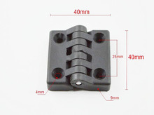 10pcs/Lot Black nylon Door Butt Hinges Cabinet Door hinge 40mm x 40mm Plastic Bearing Hinge thickness 9mm