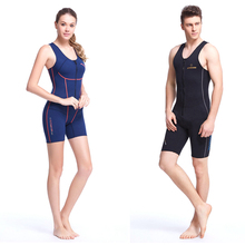 Professional 1.5MM SCR Diving Suit  Wetsuits Equipment Snorkeling Jumpsuit One Piece Short Sleeved Surf Wear Rash Guards