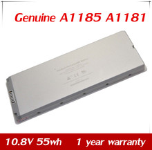 "10.8V 55wh New Genuine A1185 A1181 Battery for Apple MacBook 13"" MB403X/A MA254 MA254CH/A 13.3"" MB061J/A White"