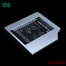 [Free Shipping] High Quality Aluminum 12.7mm IDE to SATA Second HDD Caddy 2.5'' SATA 2nd HDD Hard Disk Driver Caddy