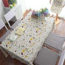 1PC printed traveling girl table cloth tablecloth Party mat cover cotton&linen lace letter wholesale Kitchen Supplies 3