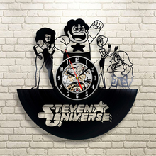Free Shipping 1Piece Personalized 12 Inch Steven Universe Vintage Vinyl LP Record Wall Clock Creative 3D Digital Clock Wall Art
