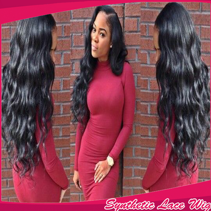 7A Glueless Cheap Wig Brazilian Deep Body Wave Best Synthetic Lace Front  Wigs For Black  Women Heat Resistant With Baby Hair<br><br>Aliexpress