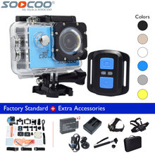 SOOCOO C30R 4K WiFi Waterproof 30m Remote Control Sport Action Video Camera+Extra Battery+Charger+Selfie Stick+Many Accessories(China)