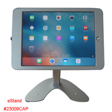 "for ipad pro 12.9""  desktop secure lock stand with metal frame brace display kiosk POS table security locking enclosure holder"