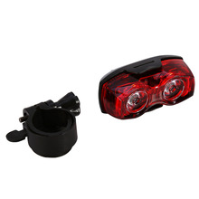 1pcs New Cycling 2 LED Flashing Light Lamp Safety Back Rear Tail Light Road Bike Mountain Bicycle Warning Light Of Bicycle Tool(China)