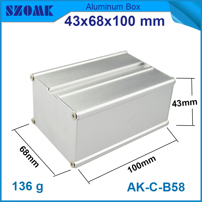 1 piece aluminum  enclosures 43x68x100 mm in silver color aluminum control protect case boxes use for pcb box<br><br>Aliexpress