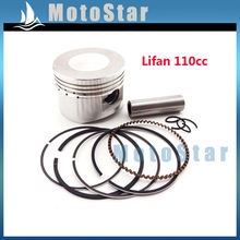52mm 13mm Piston Pin Ring Set Kit For Chinese Lifan 110cc Engine 4 Wheeler Motorcycle Pit Dirt Trail Motor Bike ATV Quad(China)