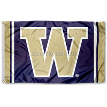 Washington Huskies Jersey Large Nation American Outdoor Indoor Hockey Baseball College Flag 3X5 Custom USA Any Team Flag